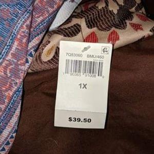 Woman's brand new lucky brand shirt sleeve shirt